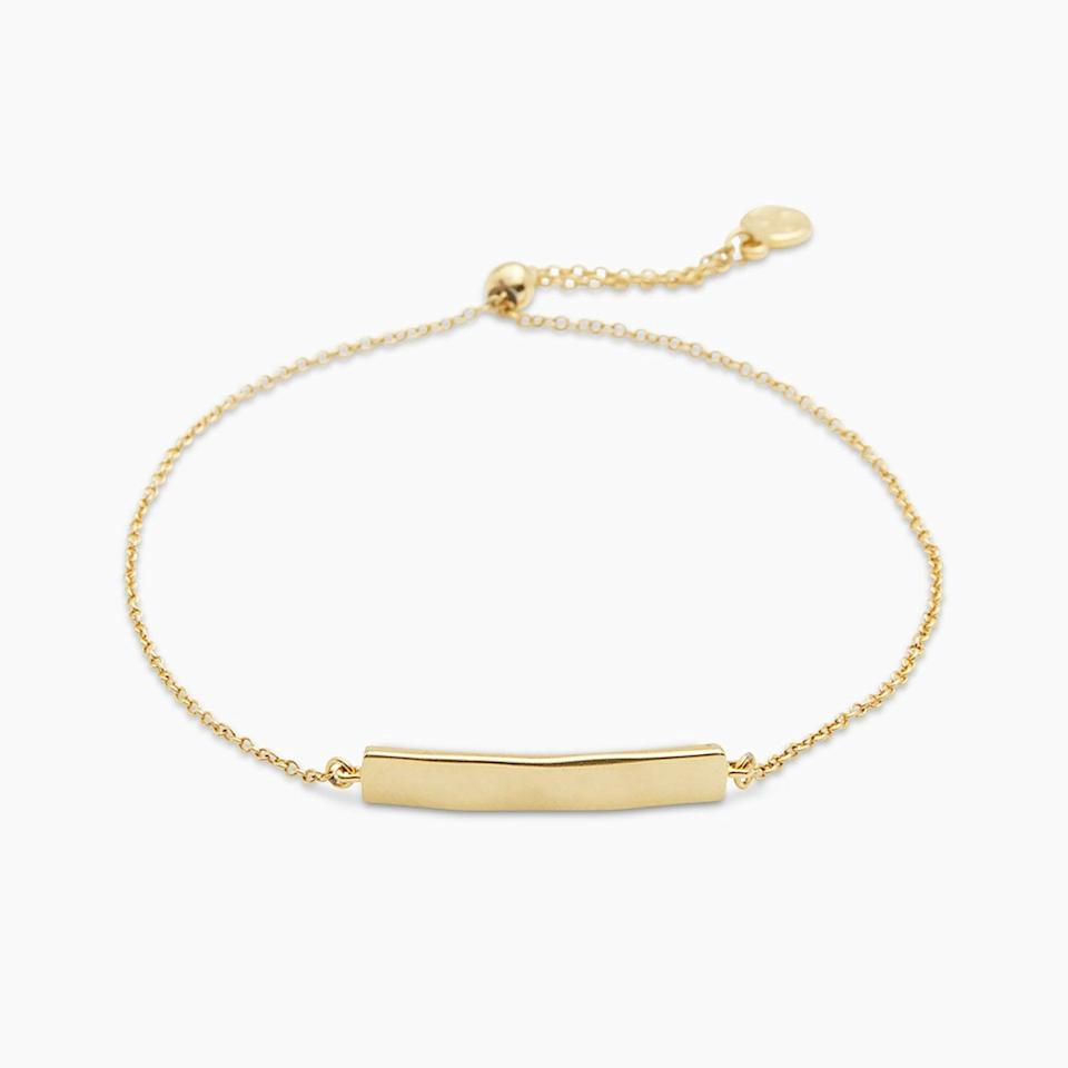 <p>This <span>Gorjana Bespoke Plate Adjustable Bracelet</span> ($60) makes such a thoughtful present.</p>