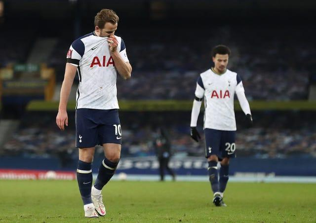 Harry Kane was brought off the bench to try and rescue Spurs