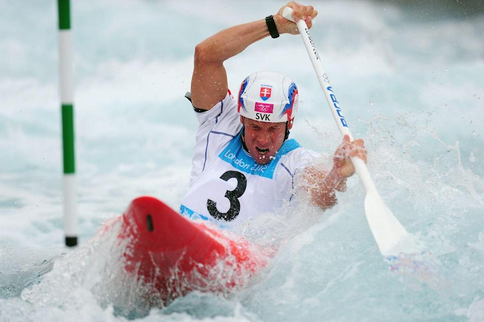 """<p>Who knew canoe racing, better known as the slalom, was so cutthroat? The rules state that if an athlete misses one of the 18-25 gates on the course, they are given a <a href=""""https://tokyo2020.org/en/sports/canoe-slalom/"""" rel=""""nofollow noopener"""" target=""""_blank"""" data-ylk=""""slk:50-second penalty"""" class=""""link rapid-noclick-resp"""">50-second penalty</a> on their final time. </p>"""