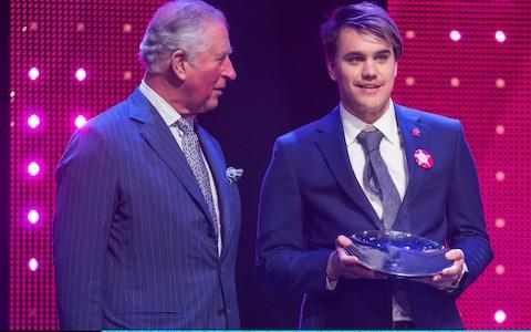 Rahul Mehra received the Mentor of the Year Award from the Prince's Trust - Credit:  WPA Pool/Getty Images Europe