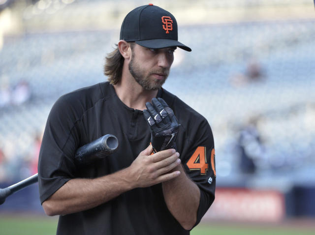 San Francisco Giants pitcher Madison Bumgarner, a noted baseball purist, is also one of the best hitting pitchers in the game. (AP Photo)