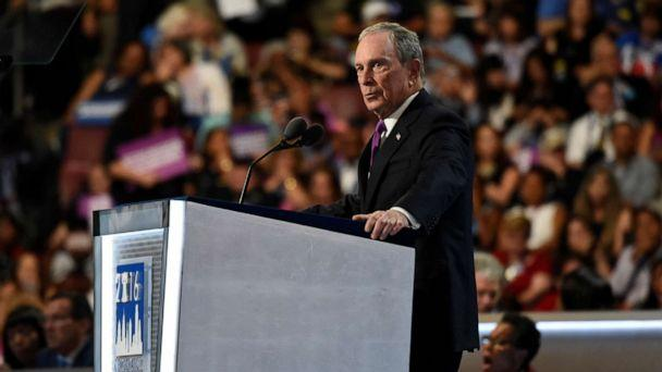 PHOTO: Michael Bloomberg speaks at the 2016 Democratic National Convention from the Wells Fargo Center in Philadelphia, PA, July 27, 2016. (Ida Mae Astute/ABC, FILE)