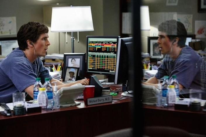 """Christian Bale as investor Michael Burry in the 2015 movie """"The Big Short."""""""