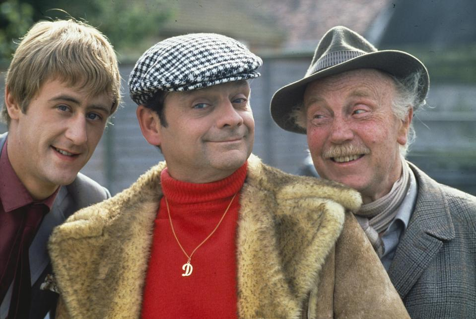 Nicholas Lyndhurst with Only Fools and Horses co-stars (Getty Images)