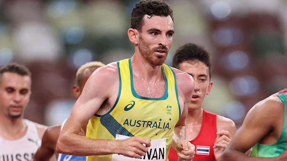 Patrick Tiernan, pictured here in the 10,000m final at the Tokyo Olympics.