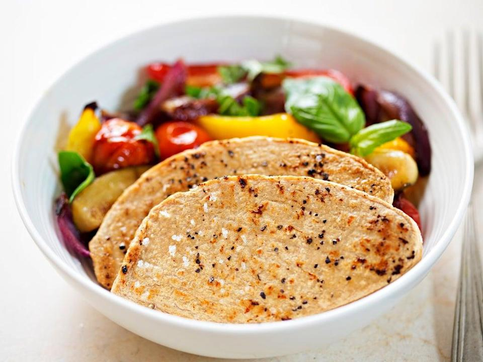 Quorn chicken fillets with vegetables (Getty Images/iStockphoto)