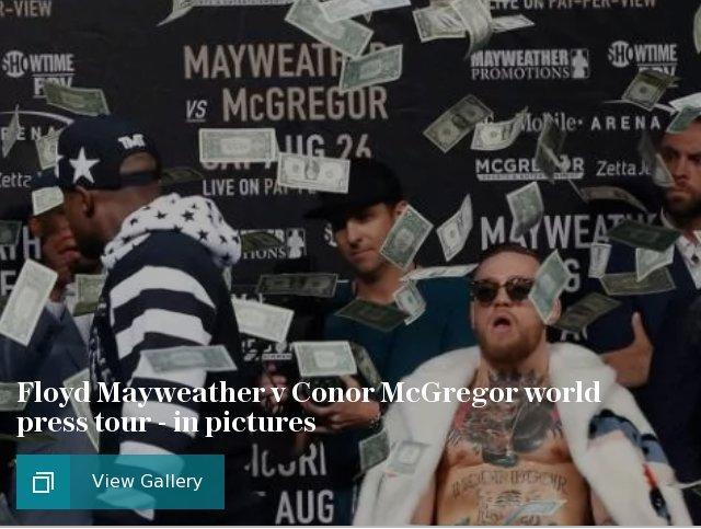 Floyd Mayweather v Conor McGregor world press tour - in pictures