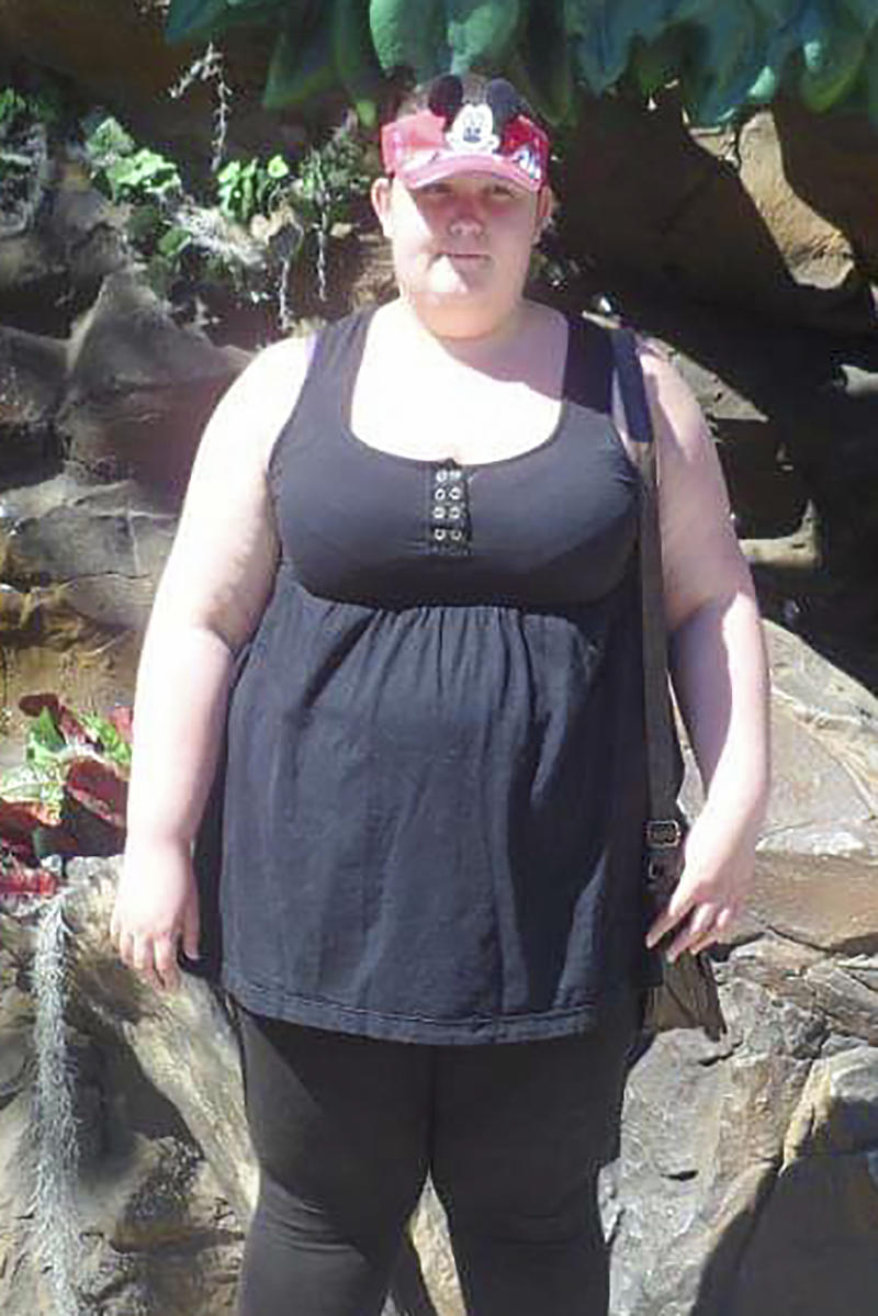 Sarah Wass pictured before her dramatic weight loss. [Photo: SWNS]
