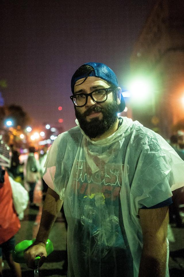 Eli LaChance outside the St. Louis City Justice Center on Monday. (Joseph Rushmore for HuffPost)