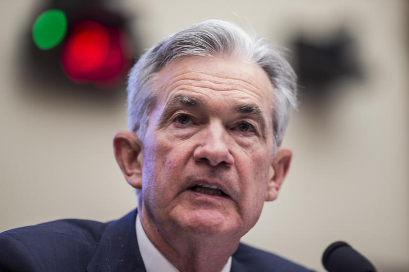 WASHINGTON, DC - JULY 10: Federal Reserve Chairman Jerome Powell testifies during a House Financial Services Committee hearing on Capitol Hill on July 10, 2019 in Washington, DC. Powell is testifying on monetary policy and the state of the economy. (Photo by Zach Gibson/Getty Images)