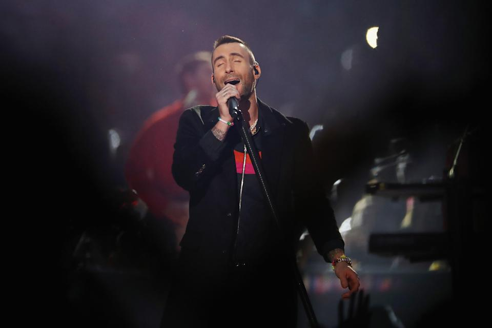 Adam Levine and Maroon 5 headlined the Super Bowl LIII halftime show. (Getty)