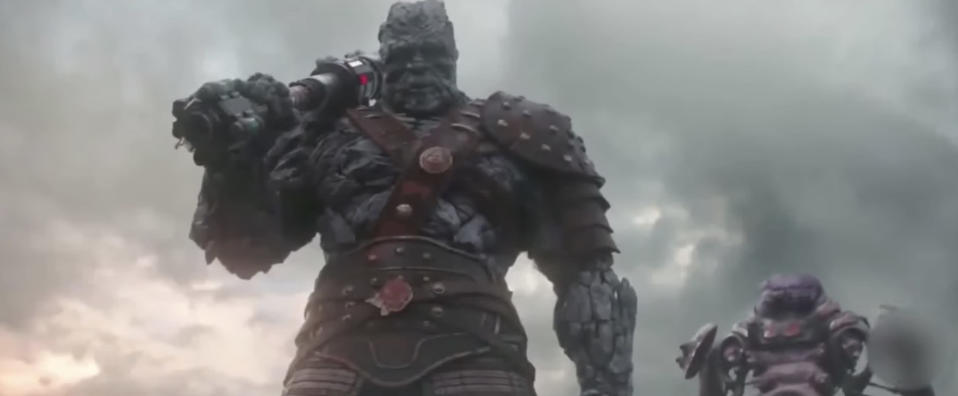 Korg (performed by Taika Waititi) and Miek in <i>Ragnarok</i>. (Photo: Marvel Studios)