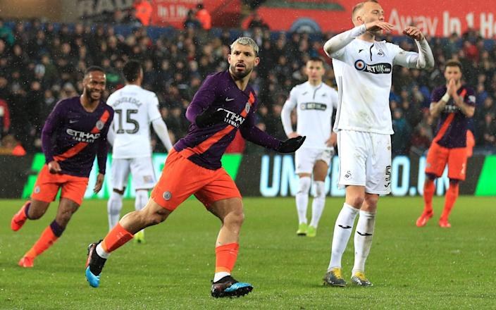 Aguero and City left it late against Swansea - Manchester City FC