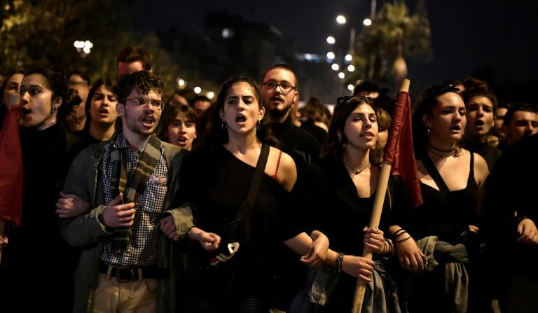 The anti-junta demonstration is a treasured anniversary for many Greeks (AFP Photo/LOUISA GOULIAMAKI )