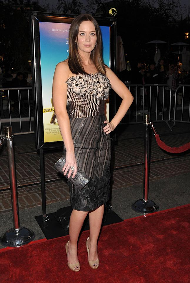 """<a href=""""http://movies.yahoo.com/movie/contributor/1808577445"""">Emily Blunt</a> at the Los Angeles premiere of <a href=""""http://movies.yahoo.com/movie/1809823943/info"""">Sunshine Cleaning</a> - 03/09/2009"""