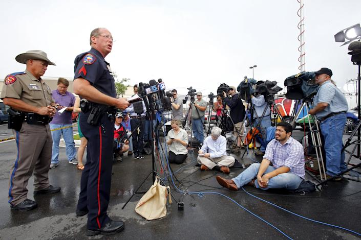 """""""They have continued to allow these bikers to gather here, and this is the culmination,"""" Waco police Sgt. Patrick Swanton told reporters last month. (Mike Stone/Reuters)"""