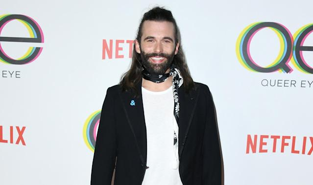 Queer Eye's Jonathan Van Ness strips down for a revealing photo. (Photo: Getty Images)