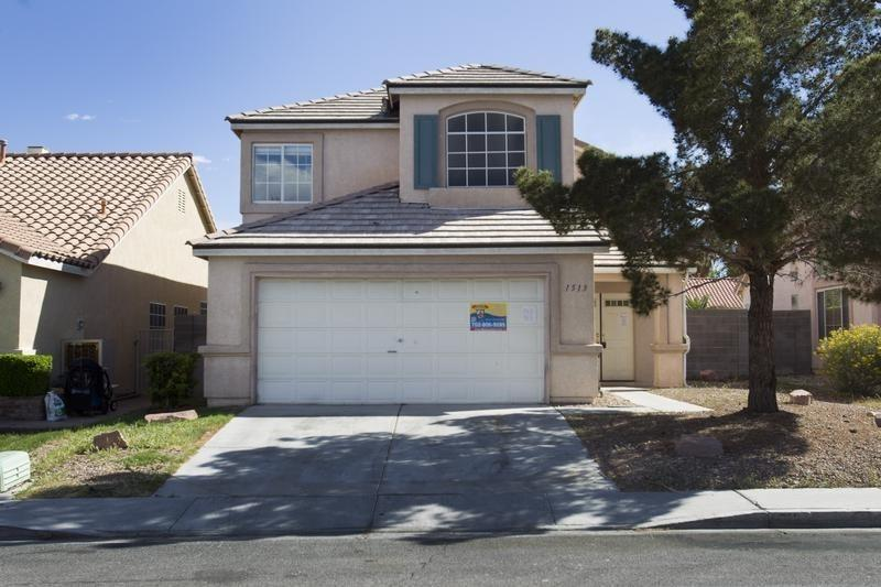 A vacant home is shown in North Las Vegas