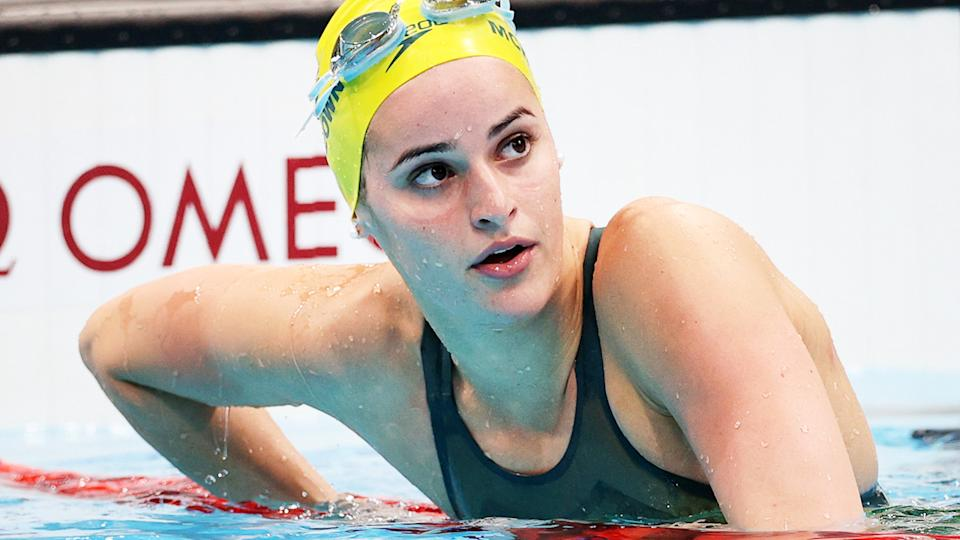 Kaylee McKeown, pictured here after the 100m backstroke semi-finals.