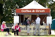 <p>Princess Anne skipped the tea and instead picked up a cup of joe in 2019. She waited at a kiosk for her order to be ready with her husband, Timothy Laurence. </p>