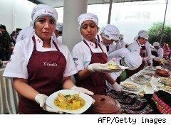 Students show off their work at cooking school