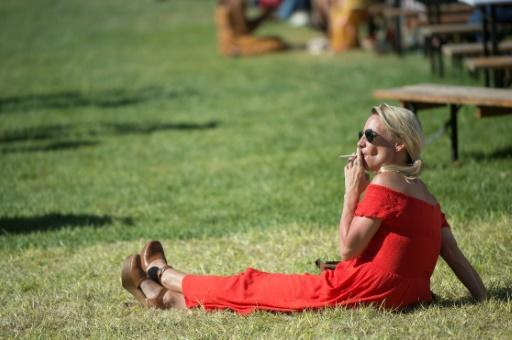 A woman at Cape Town's Met horse race, one of the richest horse races in Africa