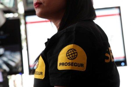 An employee of Prosegur works in the