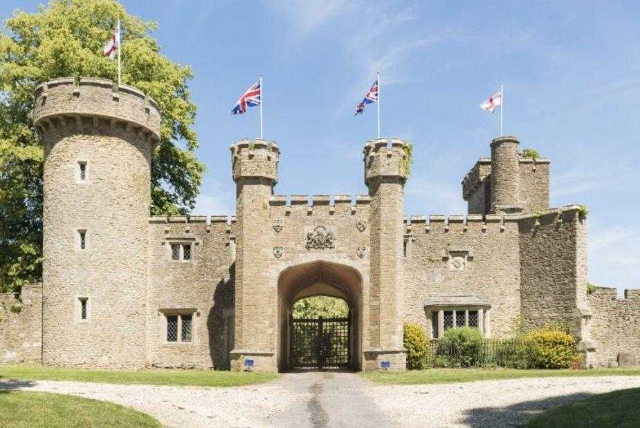 """<p>Over in Bath, Somerset Castle boasts a historic 500-acre estate consisting of two restored battlements, a traditional dining area, hot tub, glorious <a href=""""https://www.countryliving.com/uk/homes-interiors/gardens/a33963652/garden-trends-2021/"""" rel=""""nofollow noopener"""" target=""""_blank"""" data-ylk=""""slk:gardens"""" class=""""link rapid-noclick-resp"""">gardens</a> and space for up to 24 guests. </p><p><a class=""""link rapid-noclick-resp"""" href=""""https://big-cottages.com/properties/united-kingdom/england/bath-and-north-east-somerset/bath/the-somerset-castle-bc"""" rel=""""nofollow noopener"""" target=""""_blank"""" data-ylk=""""slk:MORE INFO"""">MORE INFO</a> </p>"""
