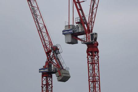 Cranes stand on a Carillion construction site in central London, Britain January 14, 2018. REUTERS/Simon Dawson
