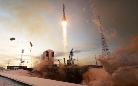 <span>A Soyuz rocket takes off from Russia's new Vostochny cosmodrome in November. It later crashed into the sea due to human error</span> <span>Credit: Marina Lystseva/TASS </span>