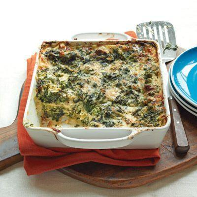 """<p>One of the best ways to amp up the healthiness of a hearty lasagna? Loads of green spinach.</p><p><strong><a href=""""https://www.countryliving.com/food-drinks/recipes/a33532/creamy-spinach-broccoli-lasagna-recipe-wdy0113/"""" rel=""""nofollow noopener"""" target=""""_blank"""" data-ylk=""""slk:Get the recipe"""" class=""""link rapid-noclick-resp"""">Get the recipe</a>.</strong></p><p><strong><a class=""""link rapid-noclick-resp"""" href=""""https://www.amazon.com/Sweese-514-101-Porcelain-Baking-Brownie/dp/B07V2GWSCB/?tag=syn-yahoo-20&ascsubtag=%5Bartid%7C10050.g.32969162%5Bsrc%7Cyahoo-us"""" rel=""""nofollow noopener"""" target=""""_blank"""" data-ylk=""""slk:SHOP BAKING PANS"""">SHOP BAKING PANS</a><br></strong></p>"""