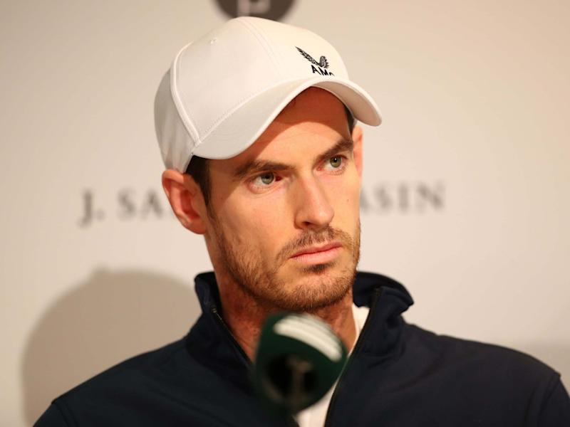 Andy Murray of Great Britain takes part in a press conference: Getty Images for LTA