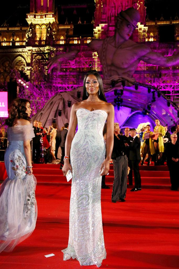Naomi Campbell poses at the Life Ball