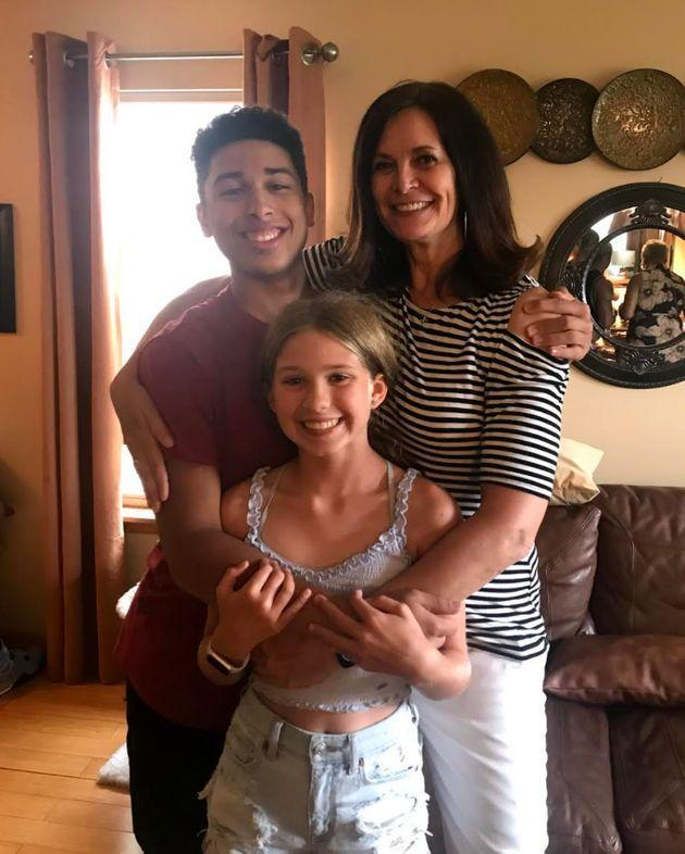 Kelly James and her children, Ryan Enger (16) and Haley Enger (11), Memorial Day, 2021. (Photo: Courtesy of Kelly K. James)