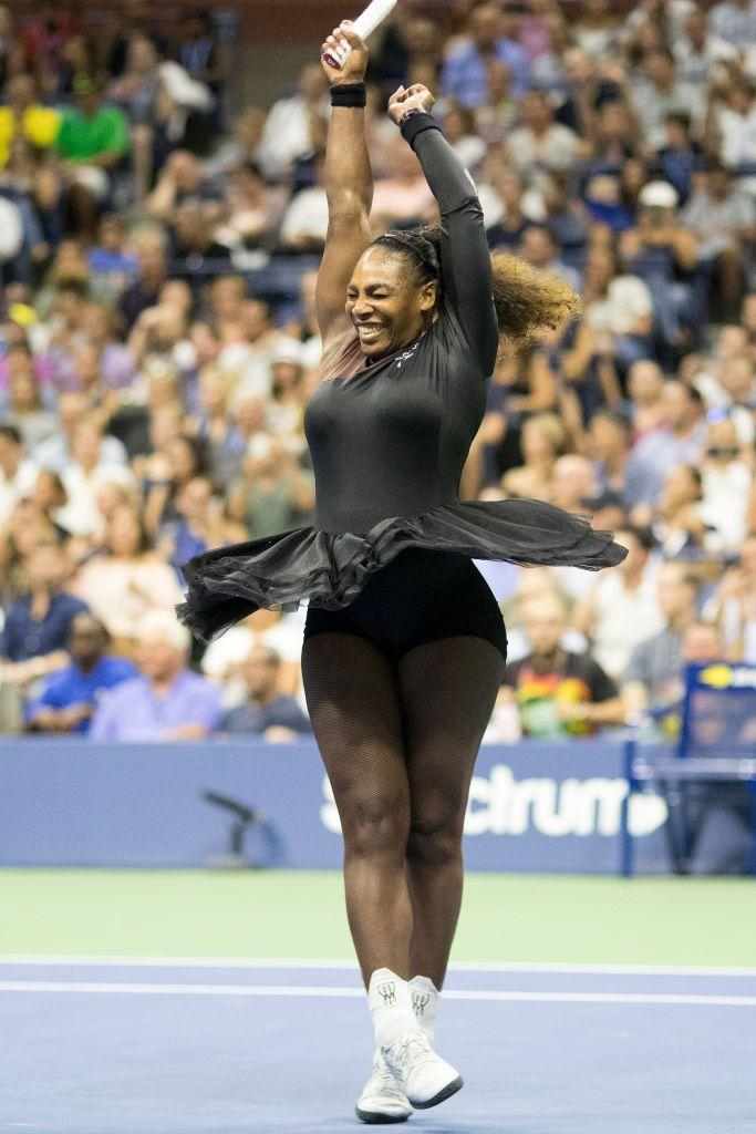 """<p>Months after Giudicelli said Williams needed to '<a href=""""https://www.independent.co.uk/life-style/serena-williams-tutu-virgil-abloh-nike-us-open-french-open-a8511946.html"""" rel=""""nofollow noopener"""" target=""""_blank"""" data-ylk=""""slk:respect the game"""" class=""""link rapid-noclick-resp"""">respect the game</a>' because of her catsuit, she wore a one-sleeved bodysuit, complete with tutu, By Off White x Nike.</p>"""