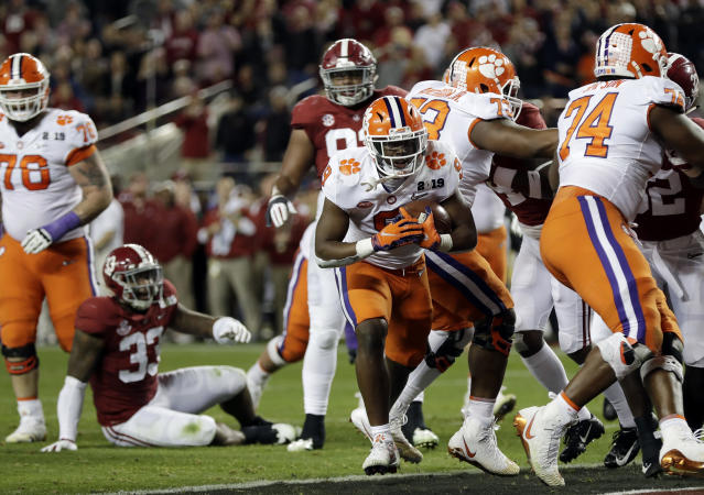 After beating Alabama in the College Football Playoff, Clemson ranks No. 1 in the first USA Today Coaches Poll of the 2019-20 season. (AP Photo/David J. Phillip)
