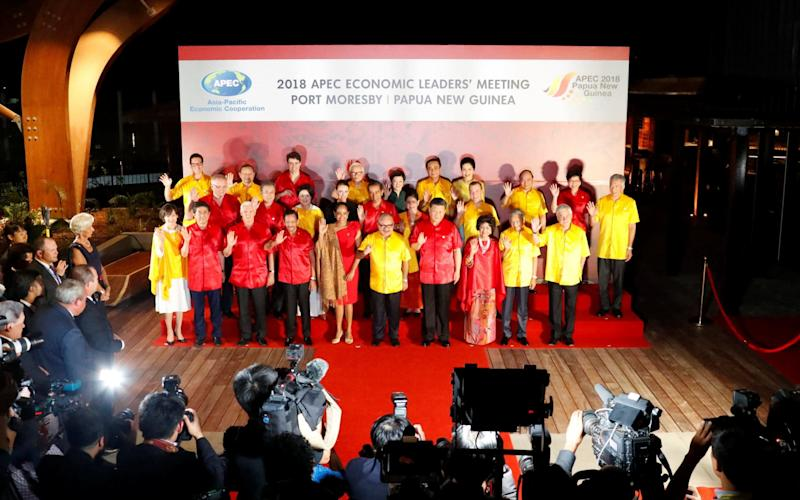Asia-Pacific leaders and their spouses gather for a