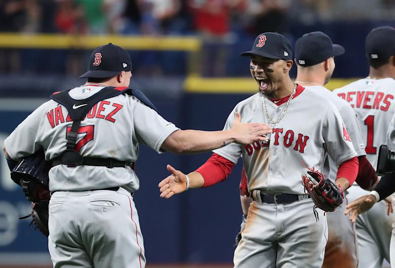Christian Vazquez's sensational play seals Red Sox win over Rays