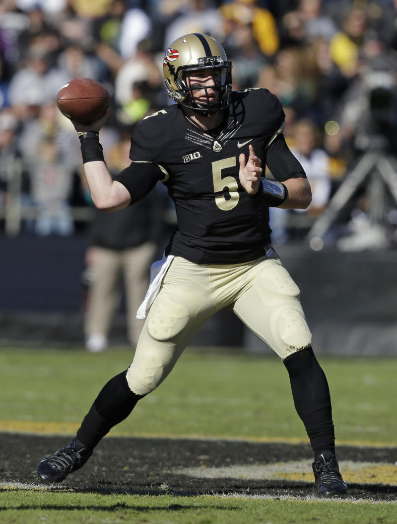 Purdue tries to shore up line to help QB, RBs