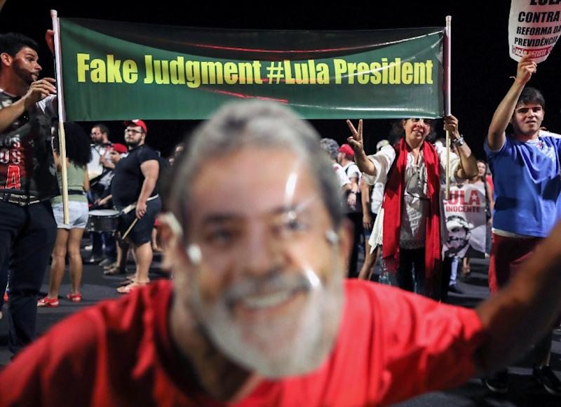 If it could happen to Lula, Brazil's hugely popular former president who has been leading in the polls, it could happen to anyone (AFP Photo/Sergio LIMA)