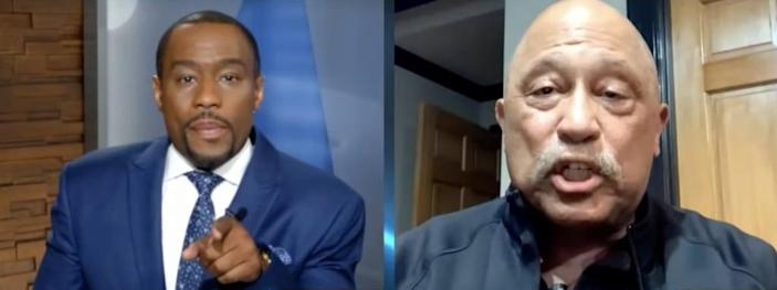 Black News Tonight host Marc Lamont Hill (left) and former reality TV judge Joe Brown (right)
