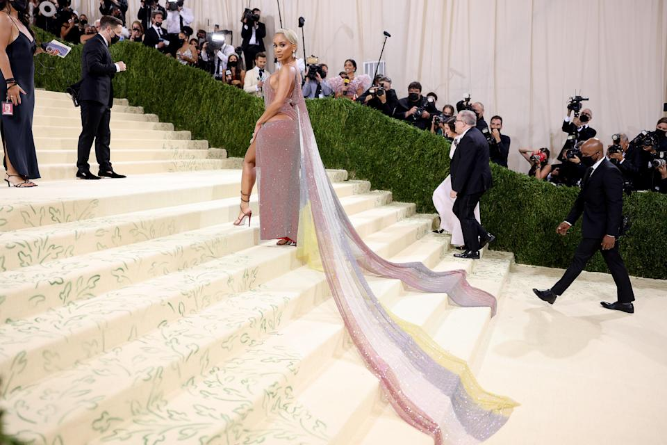 """<h1 class=""""title"""">Saweetie, The 2021 Met Gala Celebrating In America: A Lexicon Of Fashion - Arrivals</h1><cite class=""""credit"""">Getty</cite>"""