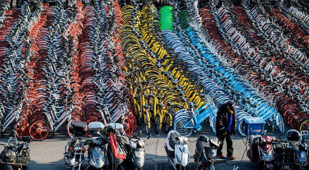 With four dockless bike-sharing companies now operating in Australia, the country could follow suit. Source: Getty