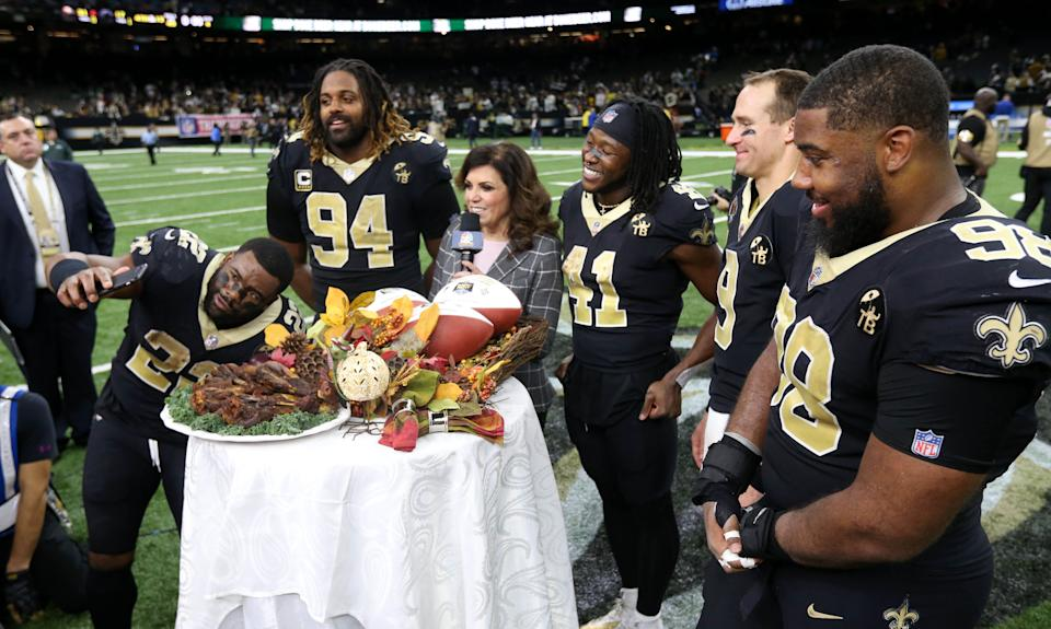 Thanksgiving time with the New Orleans Saints. (Photo by Chuck Cook, USA TODAY Sports)