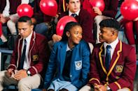 """<p>Netflix's second original series from South Africa revolves around Puleng, a crafty 16-year-old on a mission to find her older sister, who was abducted at birth 17 years before. This series may contain the same tropes as other teen-centric series, but the fact that human trafficking (which is a huge issue in South Africa) is at the center of this drama gives it a depth that other teen shows lack. Good news: <a href=""""http://twitter.com/NetflixSA/status/1272506910772731904"""" class=""""link rapid-noclick-resp"""" rel=""""nofollow noopener"""" target=""""_blank"""" data-ylk=""""slk:it's officially coming back for a second season"""">it's officially coming back for a second season</a>. </p> <p><a href=""""http://www.netflix.com/title/81044547"""" class=""""link rapid-noclick-resp"""" rel=""""nofollow noopener"""" target=""""_blank"""" data-ylk=""""slk:Watch Blood &amp; Water on Netflix now"""">Watch <strong>Blood &amp; Water</strong> on Netflix now</a>.</p>"""