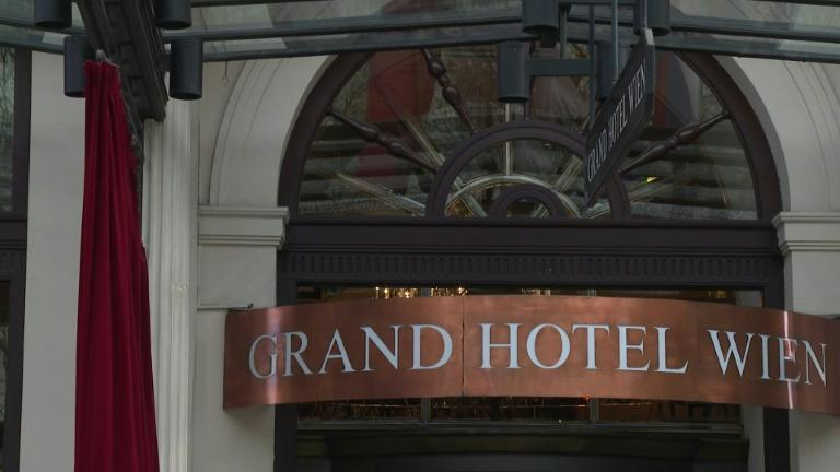 The Grand Hotel in Vienna where bilateral meetings are taking place aimed at salvaging Iran's 2015 nuclear deal. The United States is indirectly participating in discussions in Vienna in an attempt to save the international agreement