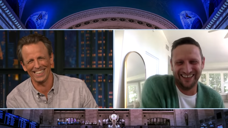 Meyers and Robinson laugh at the  destruction of New York City's  bug societies.