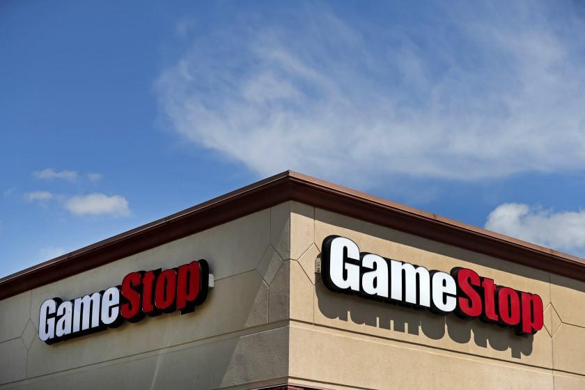 A GameStop store is seen Thursday, May 7, 2020, in St. Louis. (AP Photo/Jeff Roberson)
