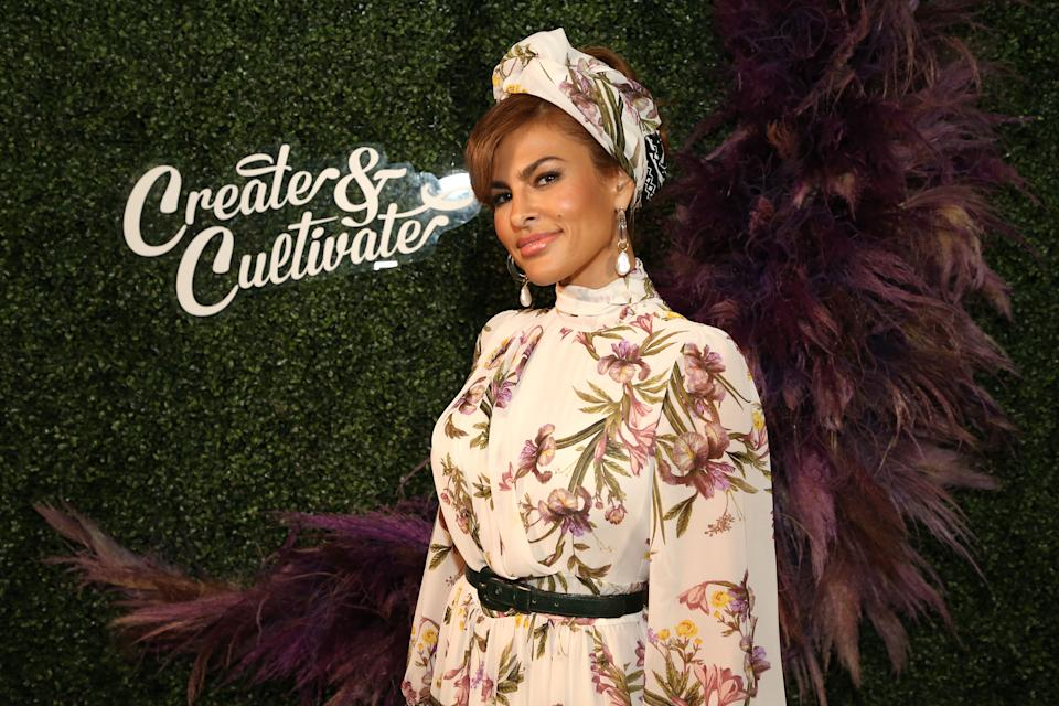 Actress Eva Mendes, 46, is opening about pandemic parenting and taking time off from acting to be a mom. (Photo: Phillip Faraone/Getty Images)