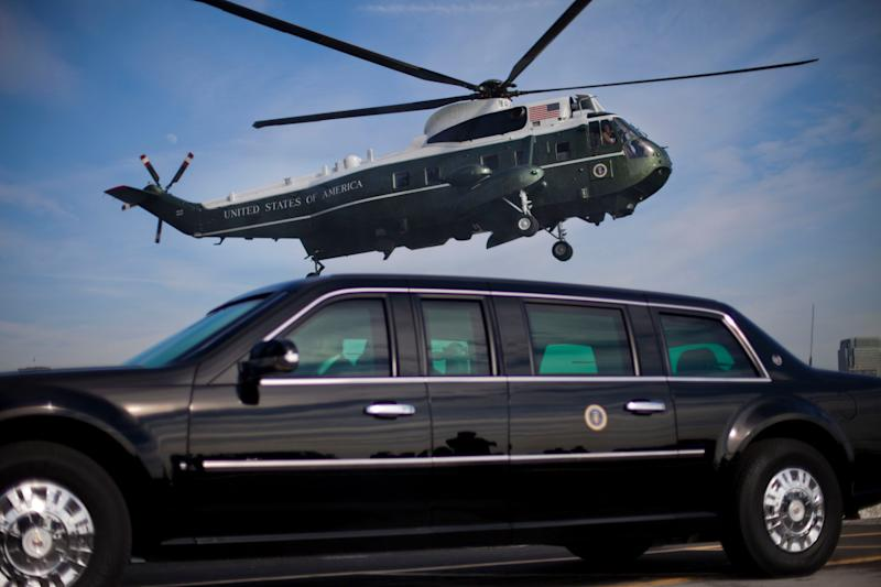 President Obama's actual Cadillac limousine, called